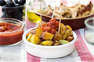 Spanish Potatoes Patatas Bravas For Tapas