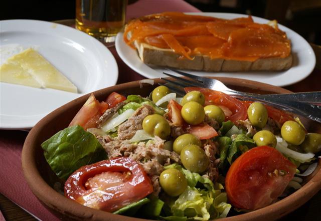 Fresh Salad Salmone Sandwich Goat Cheese