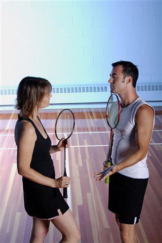 Badminton Couple