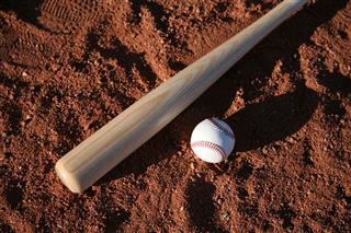 Baseball Equipment On Field