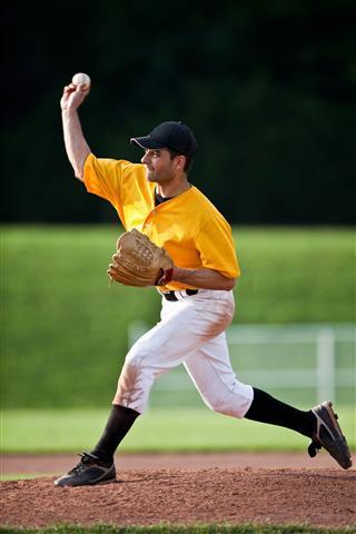 Baseball Pitcher Live Game Action