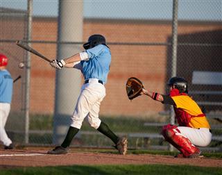 Live Baseball Action Shot