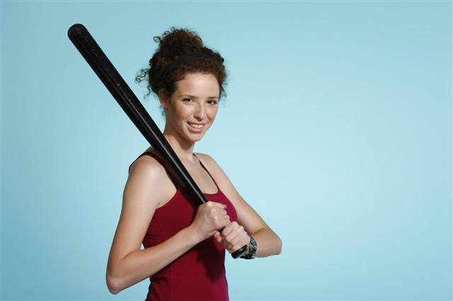 Portrait Of Baseball Girl