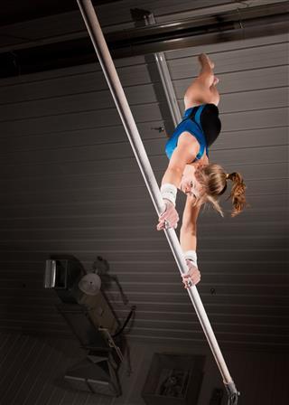 Female Gymnast Performing