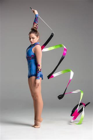 Gymnastics Dance With Ribbon