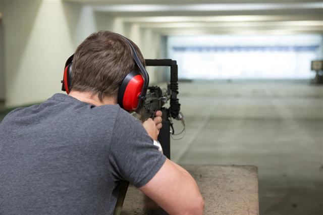 Gun In The Shooting Range