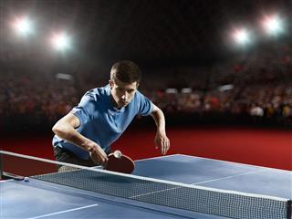 Ping Pong Player Playing