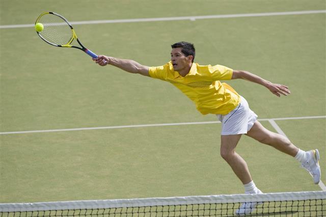 Player Playing Tennis