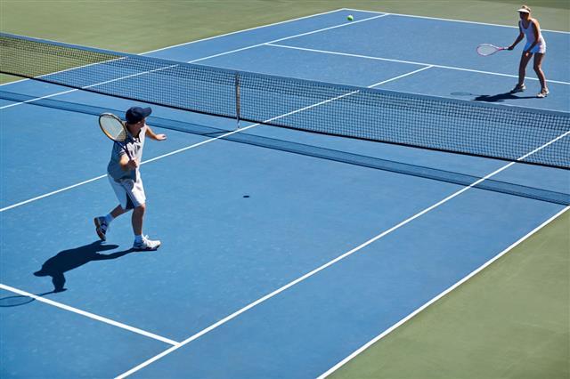 Tennis Practice Match