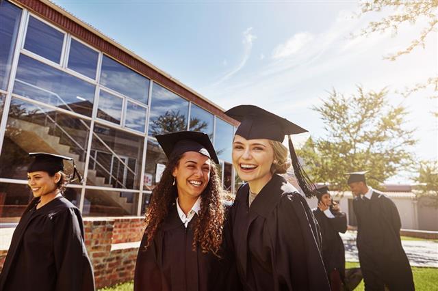 Graduates At Campus
