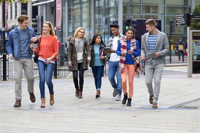 Students Enjoying University Life