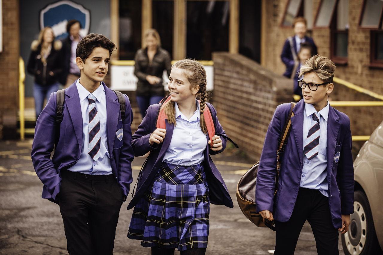 School Friends Leaving School