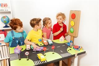 Kids Studying Traffic Code