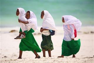 African Schoolgirls In Zanzibar