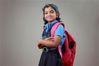 School Girl In Uniform