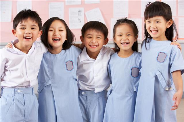 Students In School Classroom