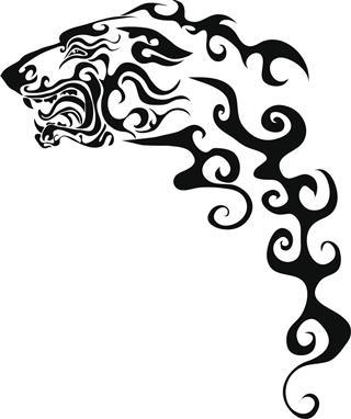 Dog tribal tattoo
