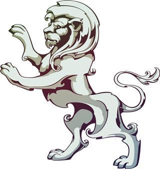 Vintage lion tattoo