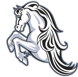 Wild horse mascot tattoo