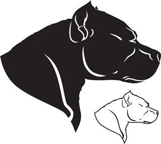 Dog tattoo silhouette