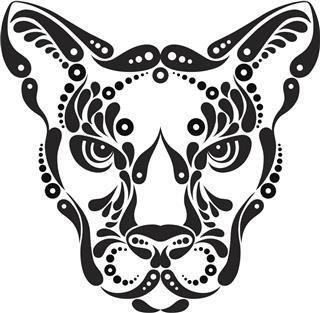 Black leopard tattoo