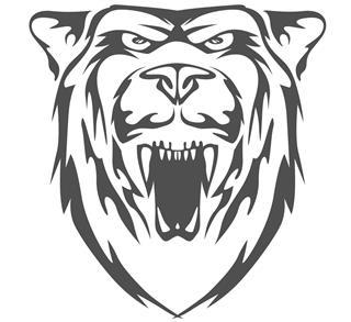 Bear head vector emblem