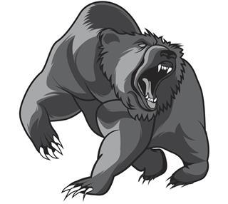 Angry bear animal tattoo