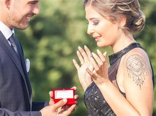 Man making proposal