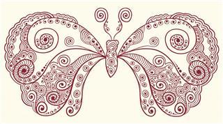 Groovy Henna Butterfly
