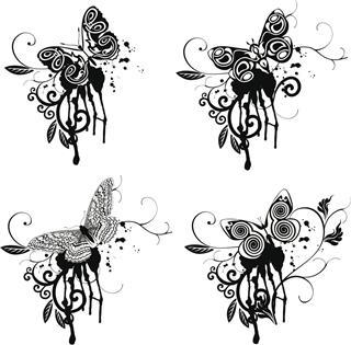 Fantasy butterflies design
