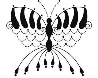 Tattoo art of butterfly