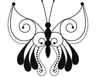 Butterfly black tattoo