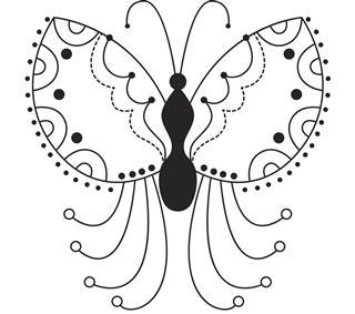 Butterfly tattoo art design
