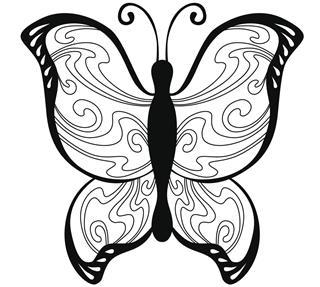 Black white pattern tattoo