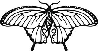 Butterfly logo tattoo