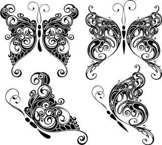 Butterfly art tattoos