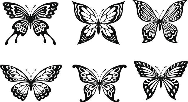 Beautiful butterflies tattoo