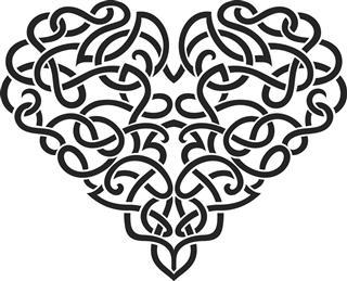 Elegant Celtic Heart