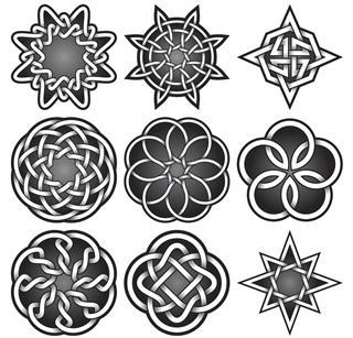 Illustration set celtic knots