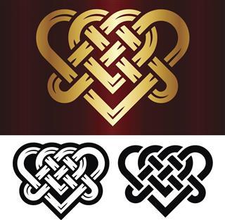 Tattoo design of celtic heart