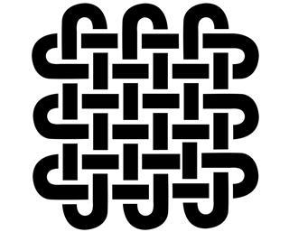 Celtic style square shape