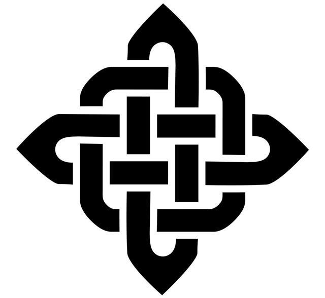 Square celtic style