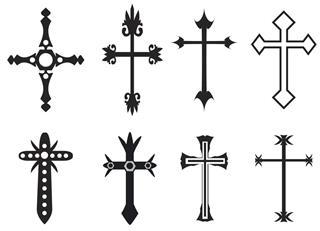 Vector cross tattoos