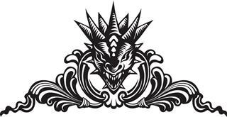 Head tattoo on dragon