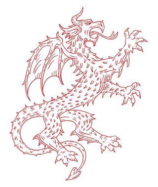 Thorny on dragon body