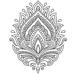 Tattoo flower template