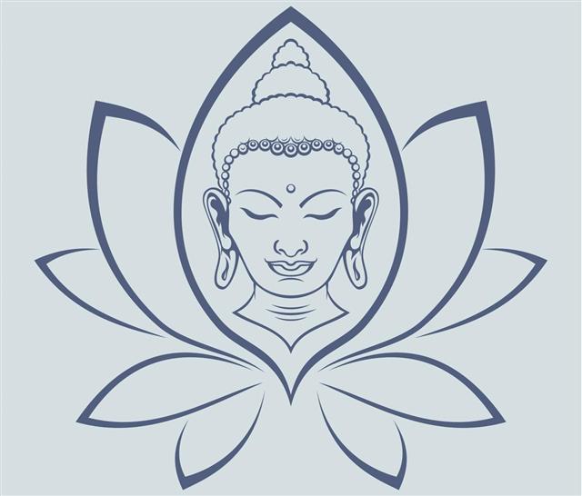 Buddha face design