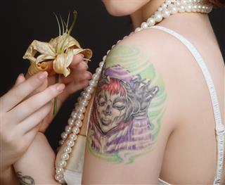 Tattoo on female arm