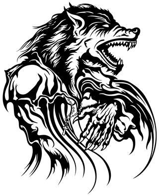 Devil wolf design