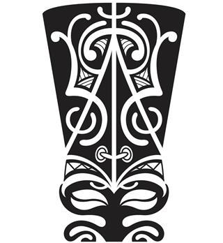 Maori mask illustration